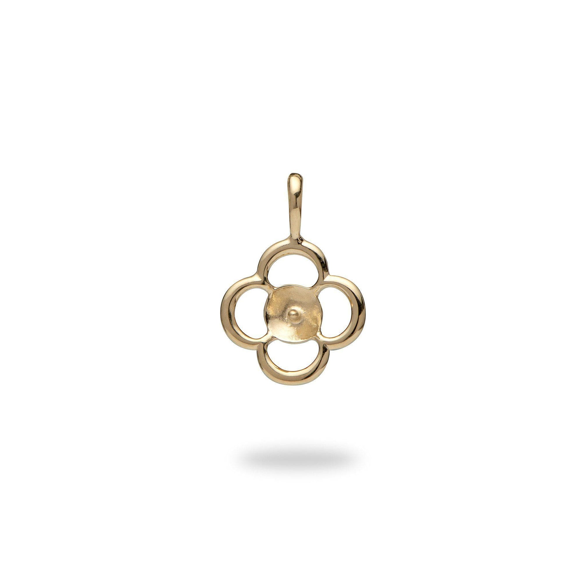 Pick-a-Pearl 4 Leaf Clover Pendant in Gold-[SKU]
