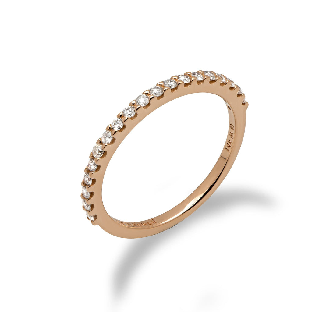 Diamond Anniversary Ring in the 14K Rose Gold