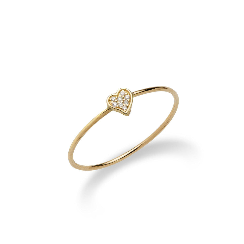 Diamond Pave Ring in 14K Yellow Gold