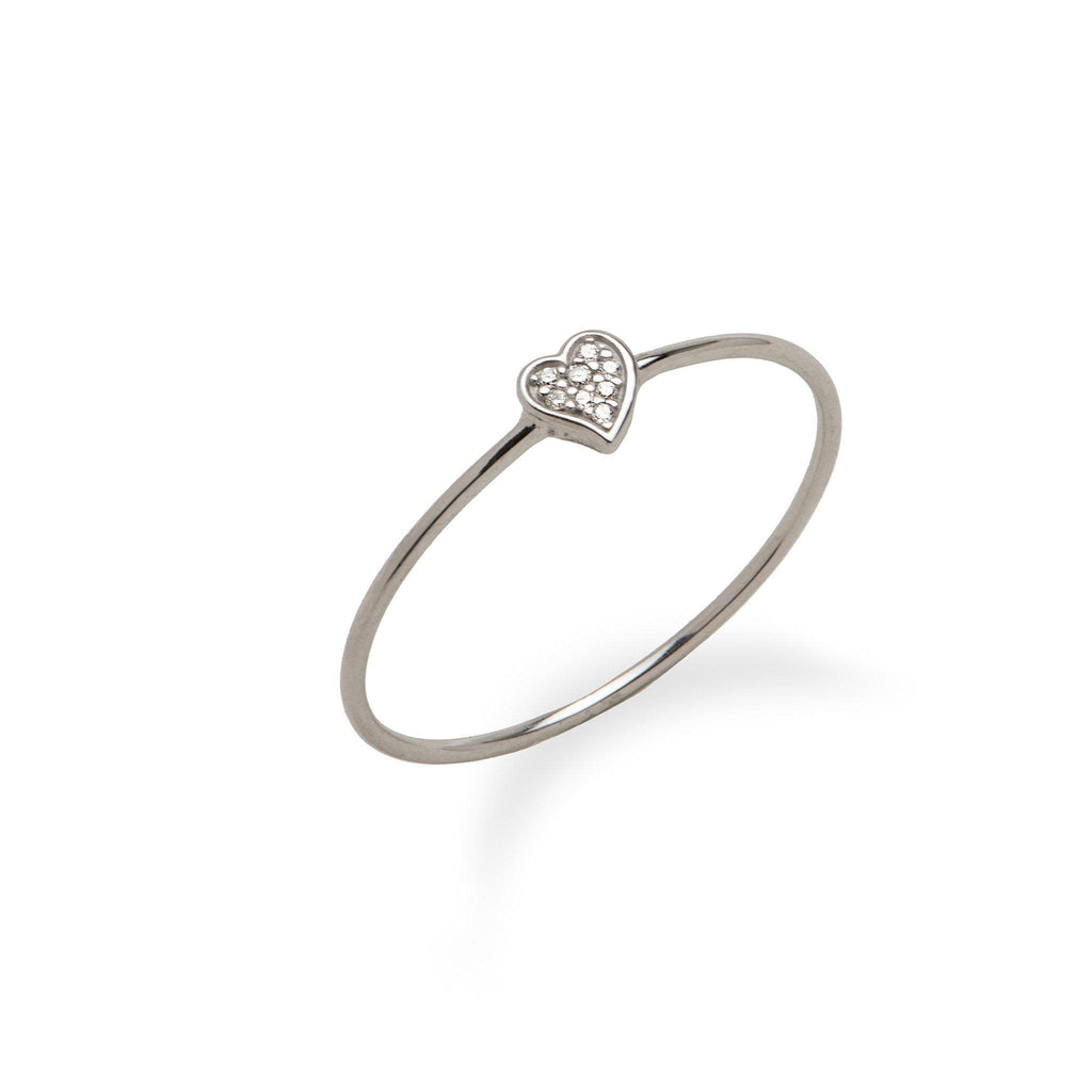 Diamond Pave Ring in 14K White Gold