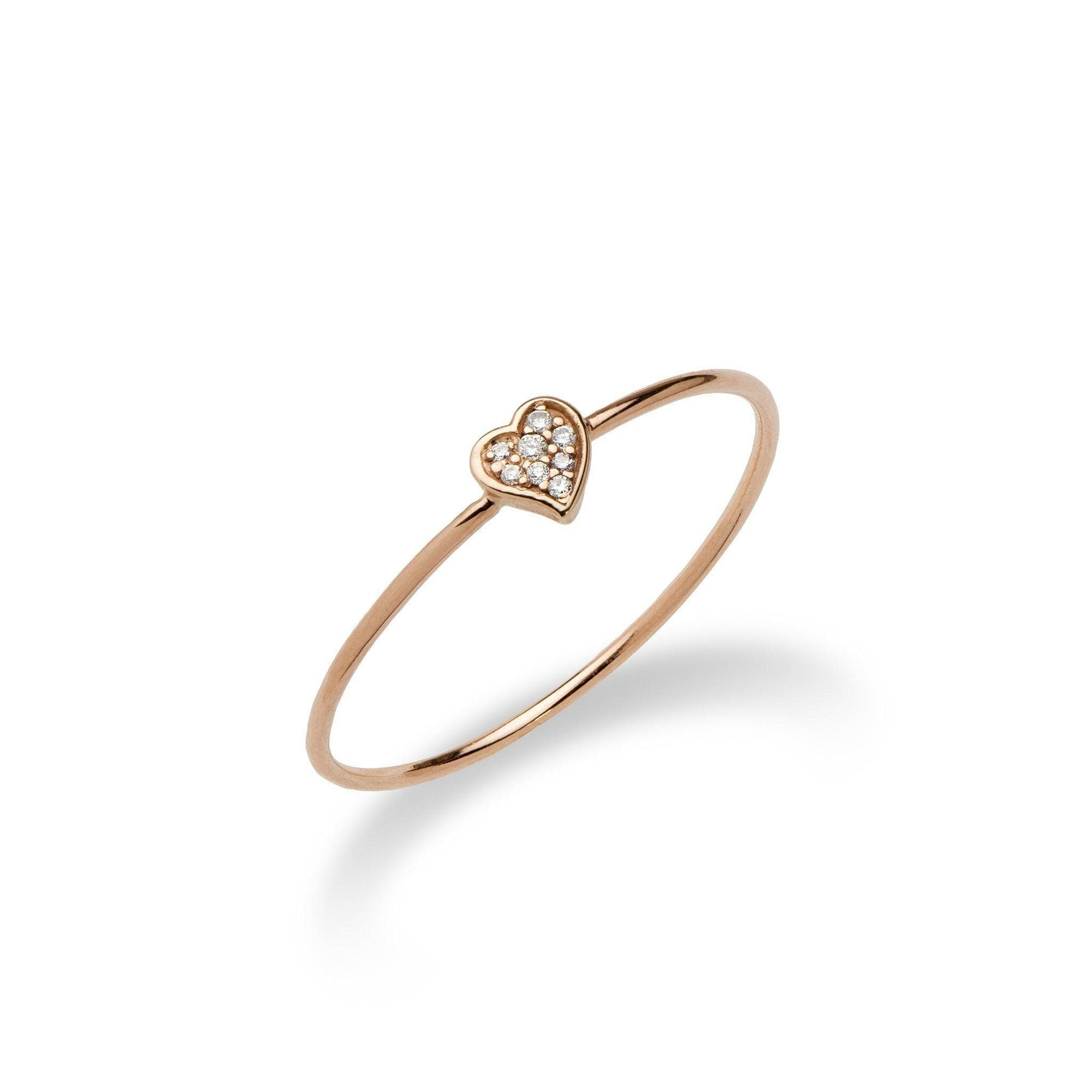 Diamond Pave Ring in 14K Rose Gold - Maui Divers Jewelry