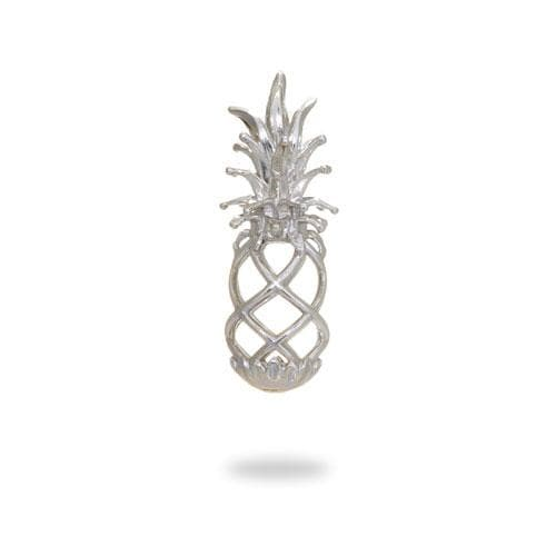 Pick-a-Pearl Pineapple Cage Pendant in Sterling Silver - 30mm
