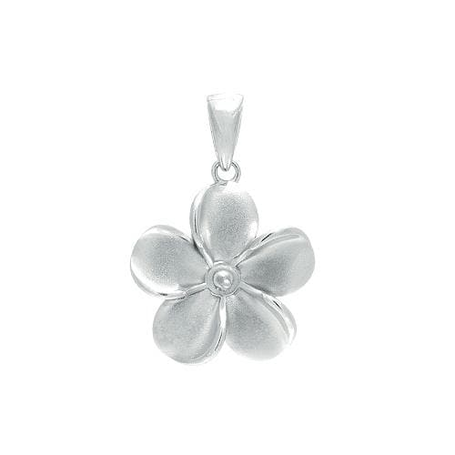 Plumeria (15mm) Pendant Mounting in Sterling Silver-[SKU]