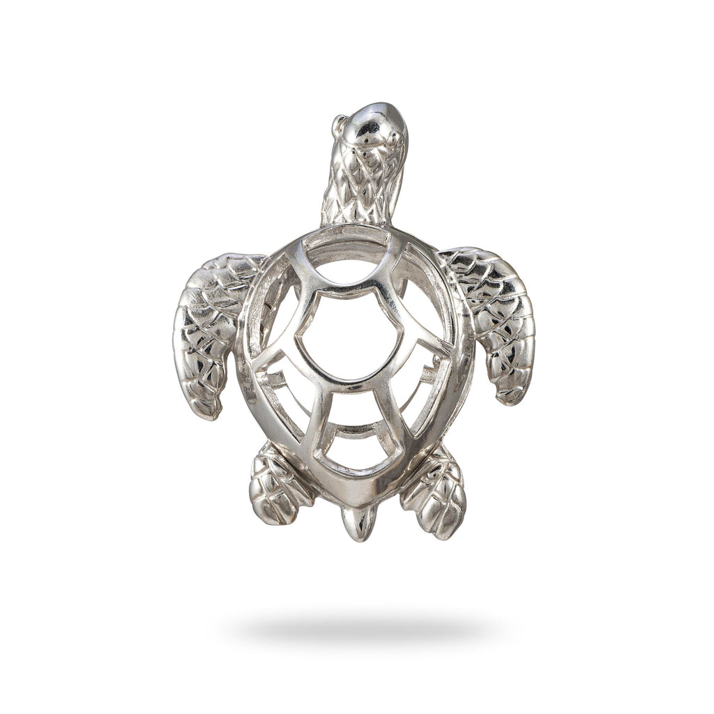 Honu Cage Pendant Mounting in Sterling Silver - Maui Divers Jewelry