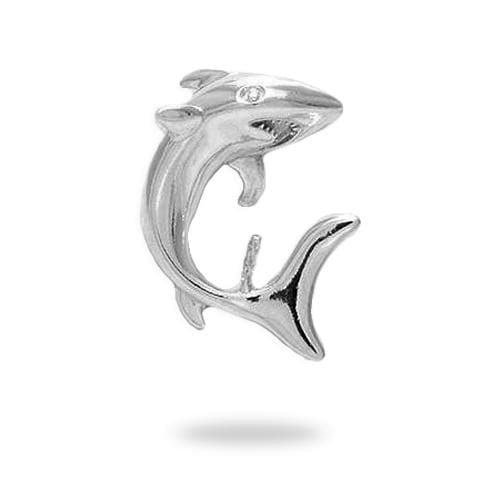 Shark Pendant Mounting in Sterling Silver - Maui Divers Jewelry