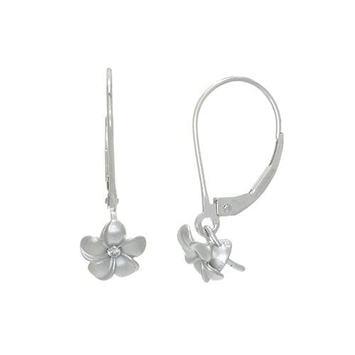 Pick a Pearl Sterling Silver Plumeria Earrings 089-00031