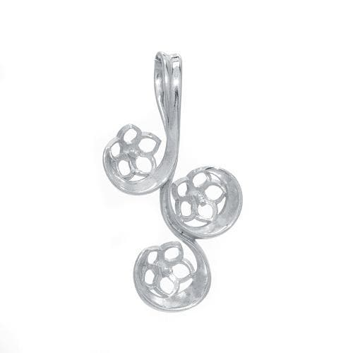 Swirl Pendant Mounting in Sterling Silver-[SKU]