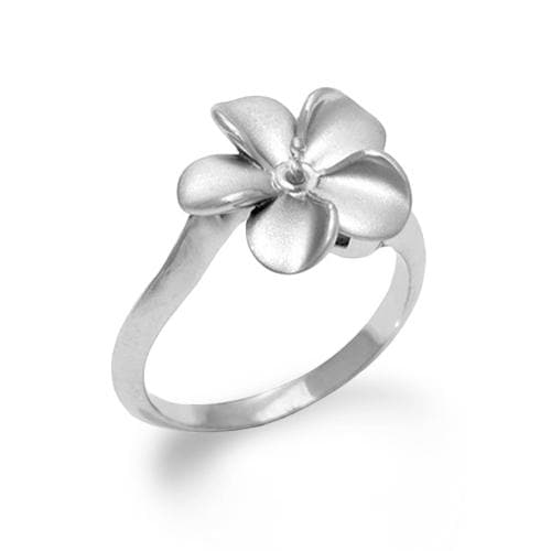 Plumeria (13mm) Ring Mounting in Sterling Silver