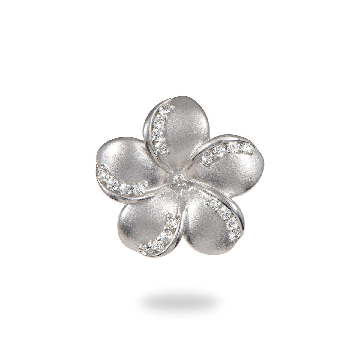 Plumeria (20mm) Pendant Mounting in Sterling Silver-[SKU]