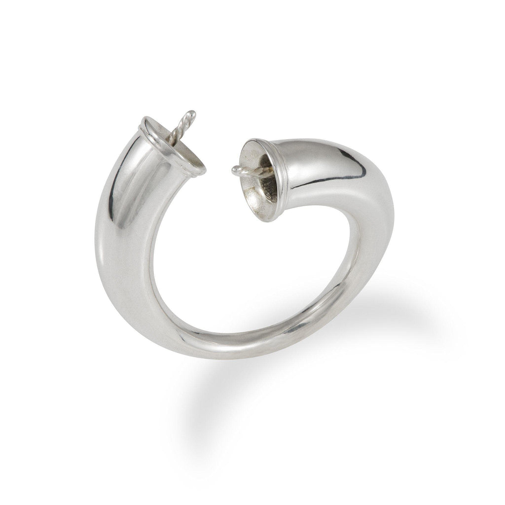 Pick-a-Pearl Bypass Ring in Sterling Silver-[SKU]