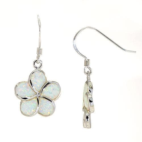Plumeria Opal Earrings in Sterling Silver l-093-04906