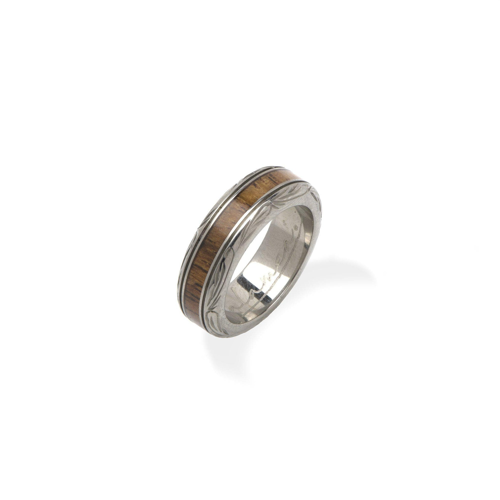 Koa Ring in Titanium - Size 5-[SKU]