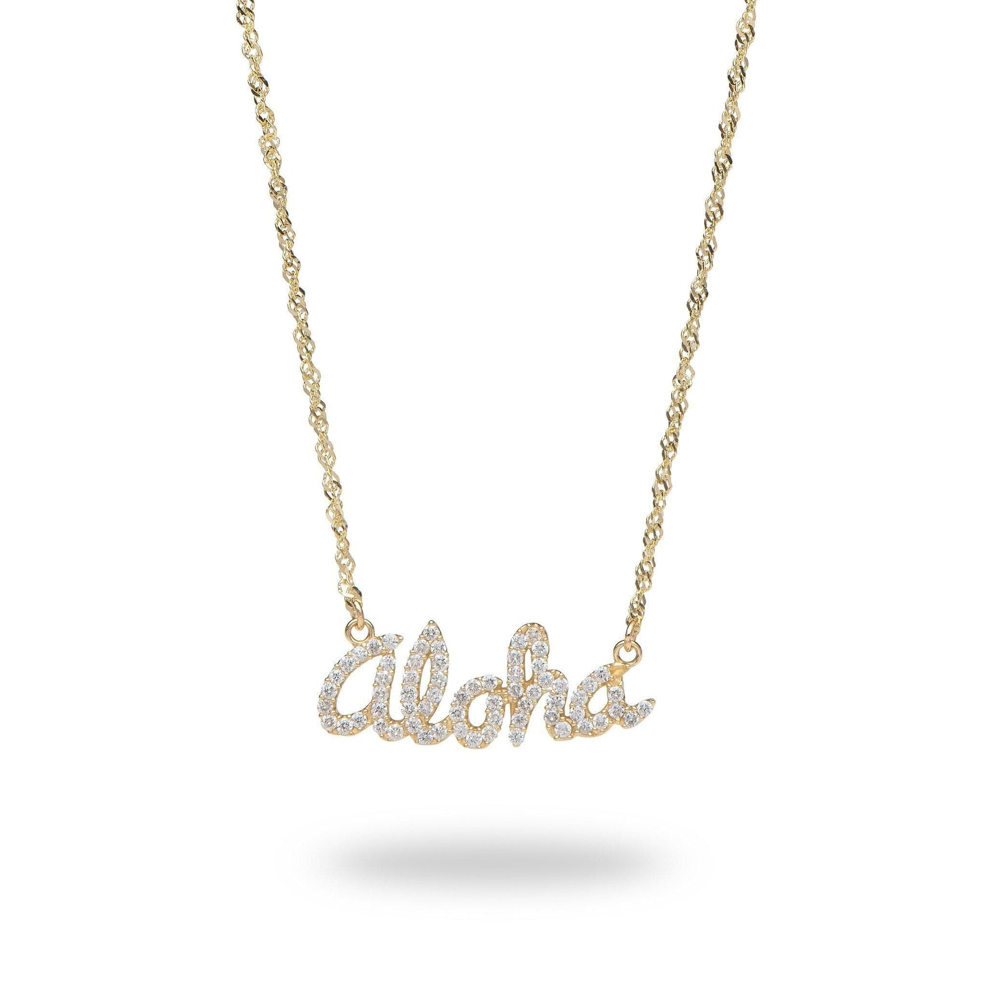 Aloha necklace in 14K Yellow with Diamond 100-01709