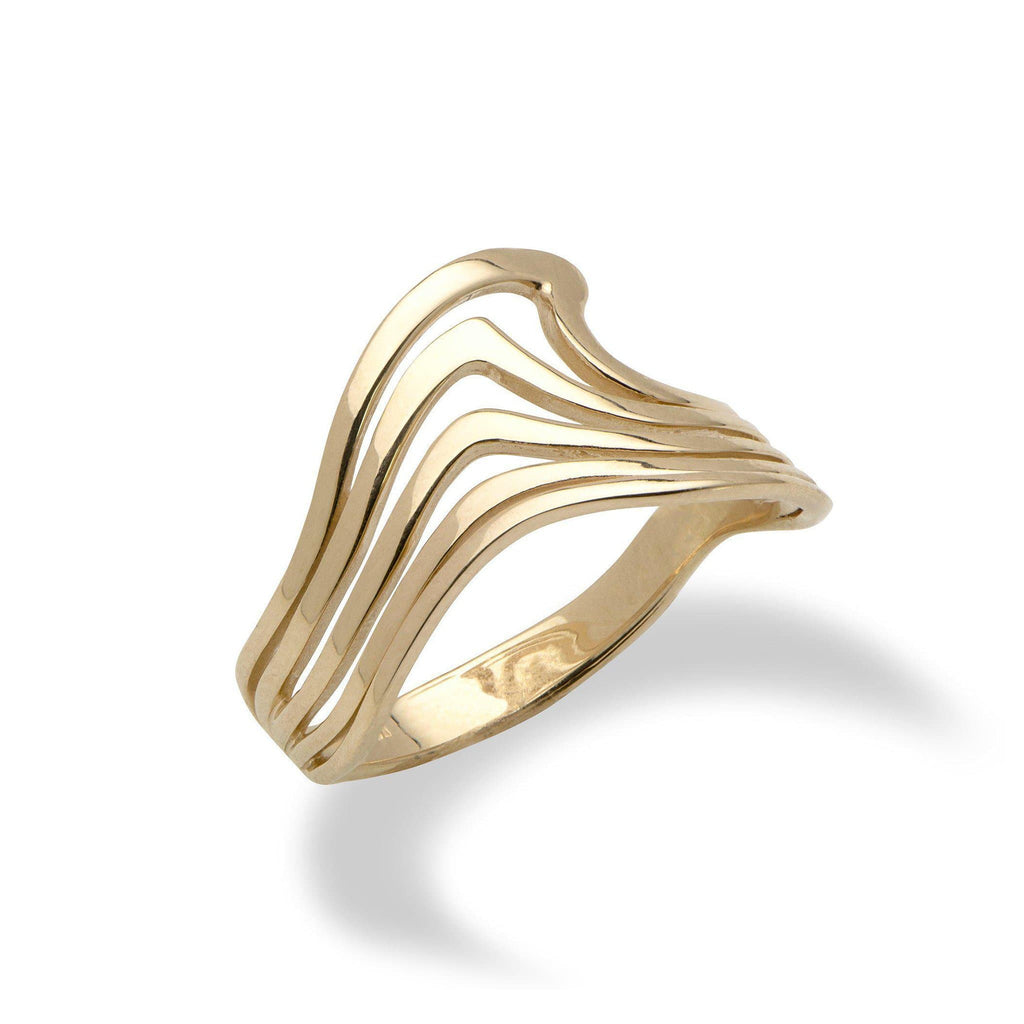 Nalu Abstract Lines Ring in 14K Yellow Gold