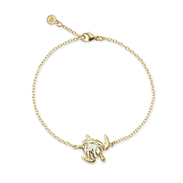 Honu Bracelet in Gold - 15mm-[SKU]