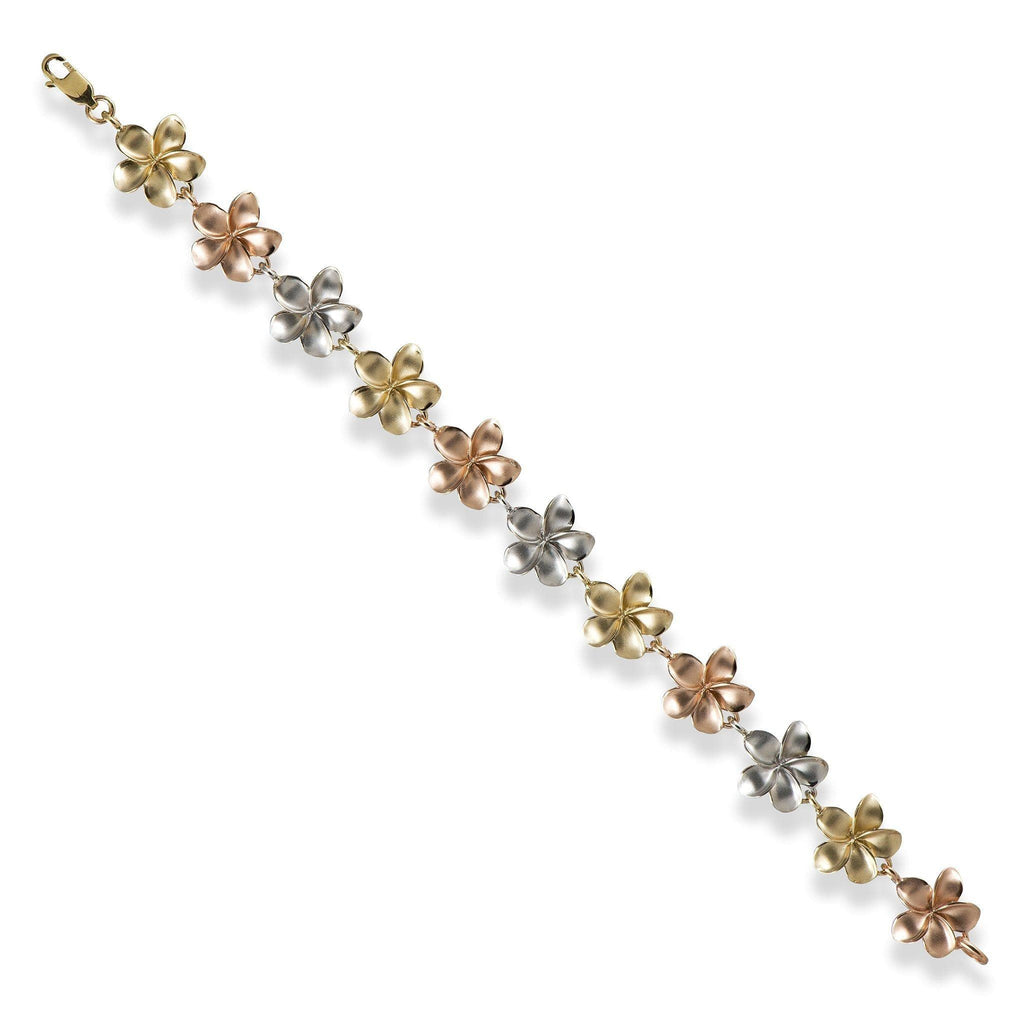 Plumeria Bracelet in White and Rose Gold (13mm) 100-01790