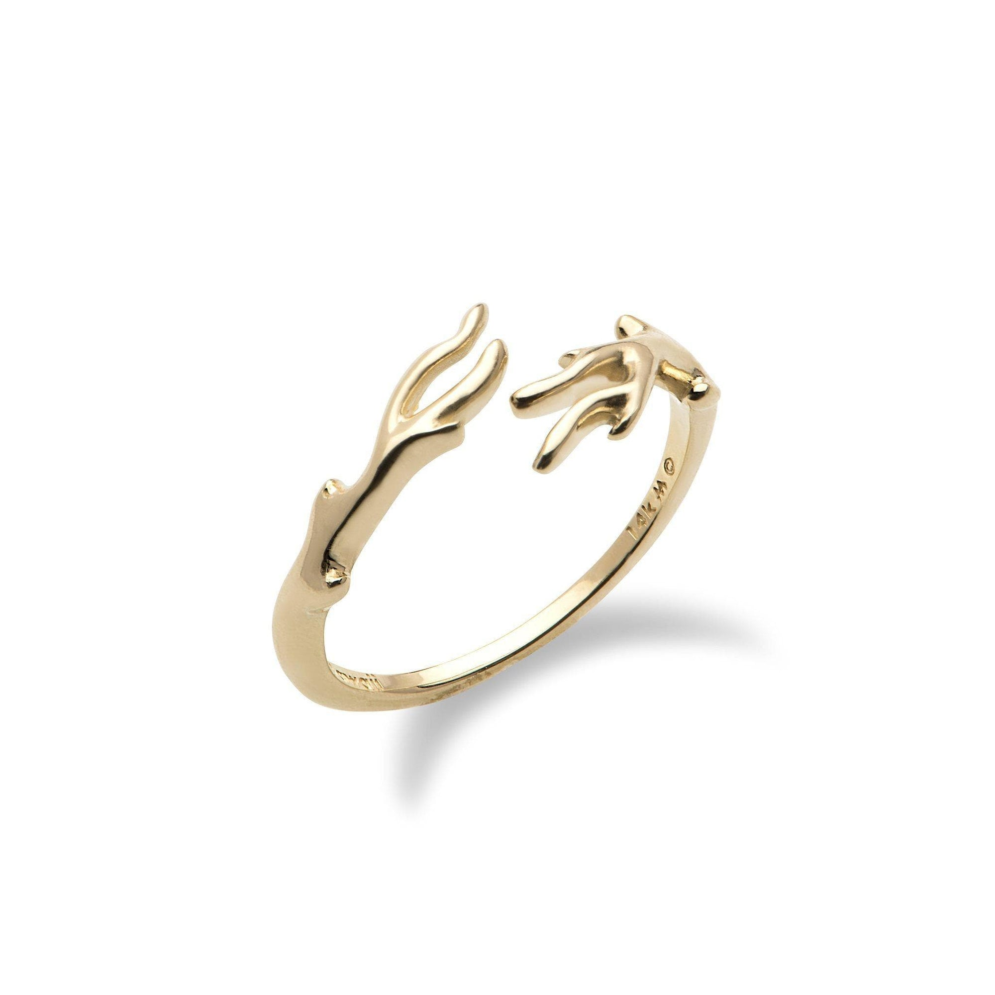 Hawaiian Heritage Bypass Ring in 14K Yellow Gold - Maui Divers Jewelry