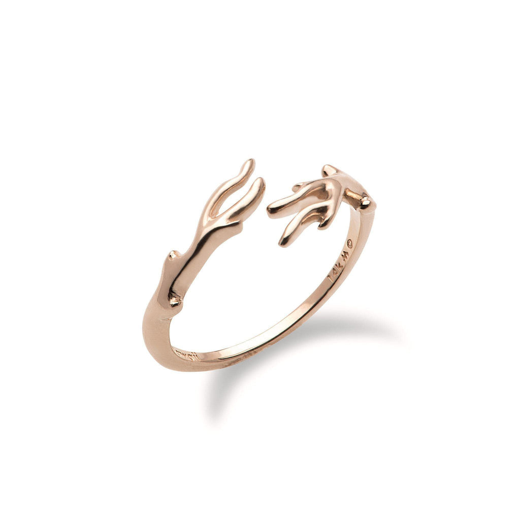 Hawaiian Heritage Bypass Ring in 14K Rose Gold 100-01929