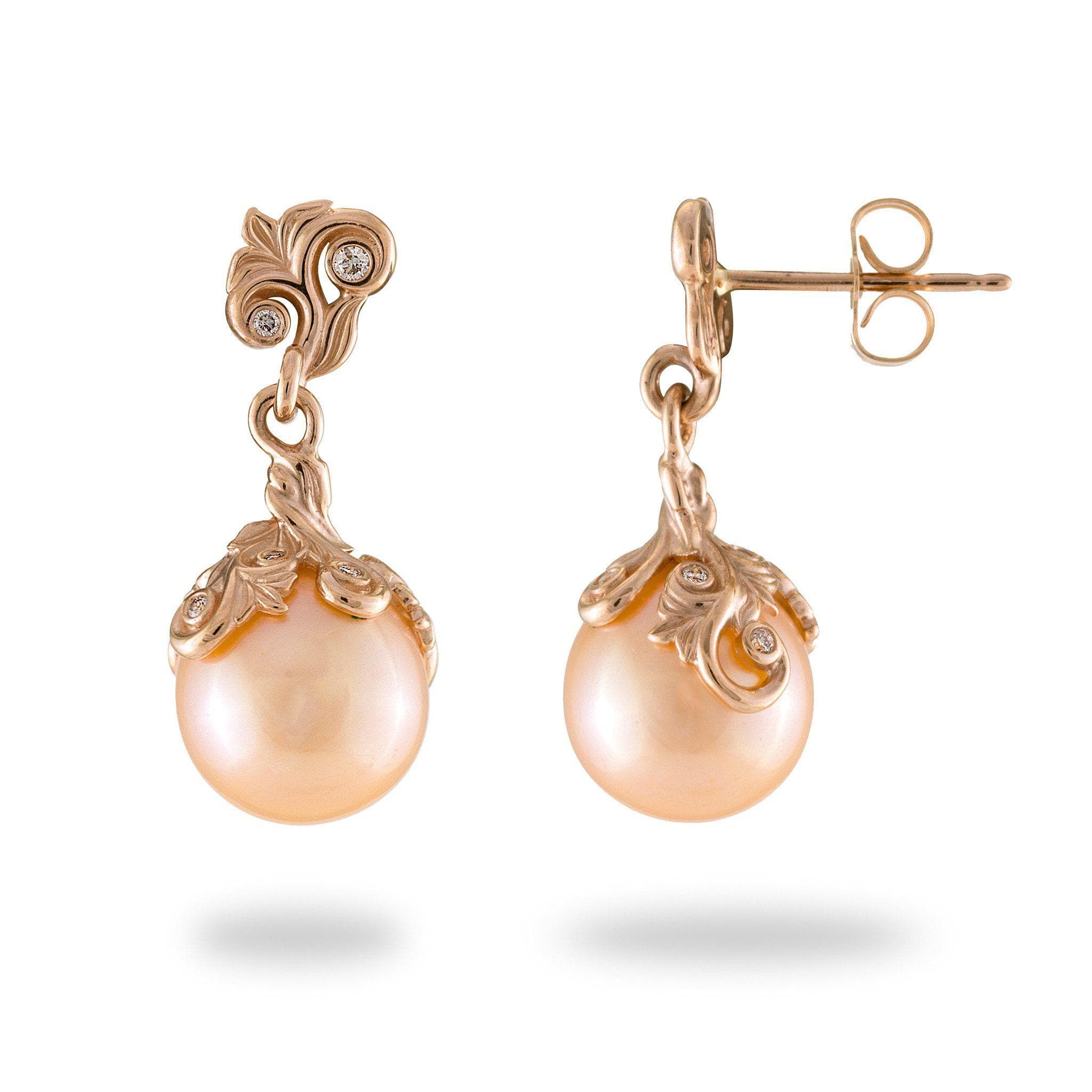 gold women itm earrings pearl freshwater kasumiga rose kind lavender