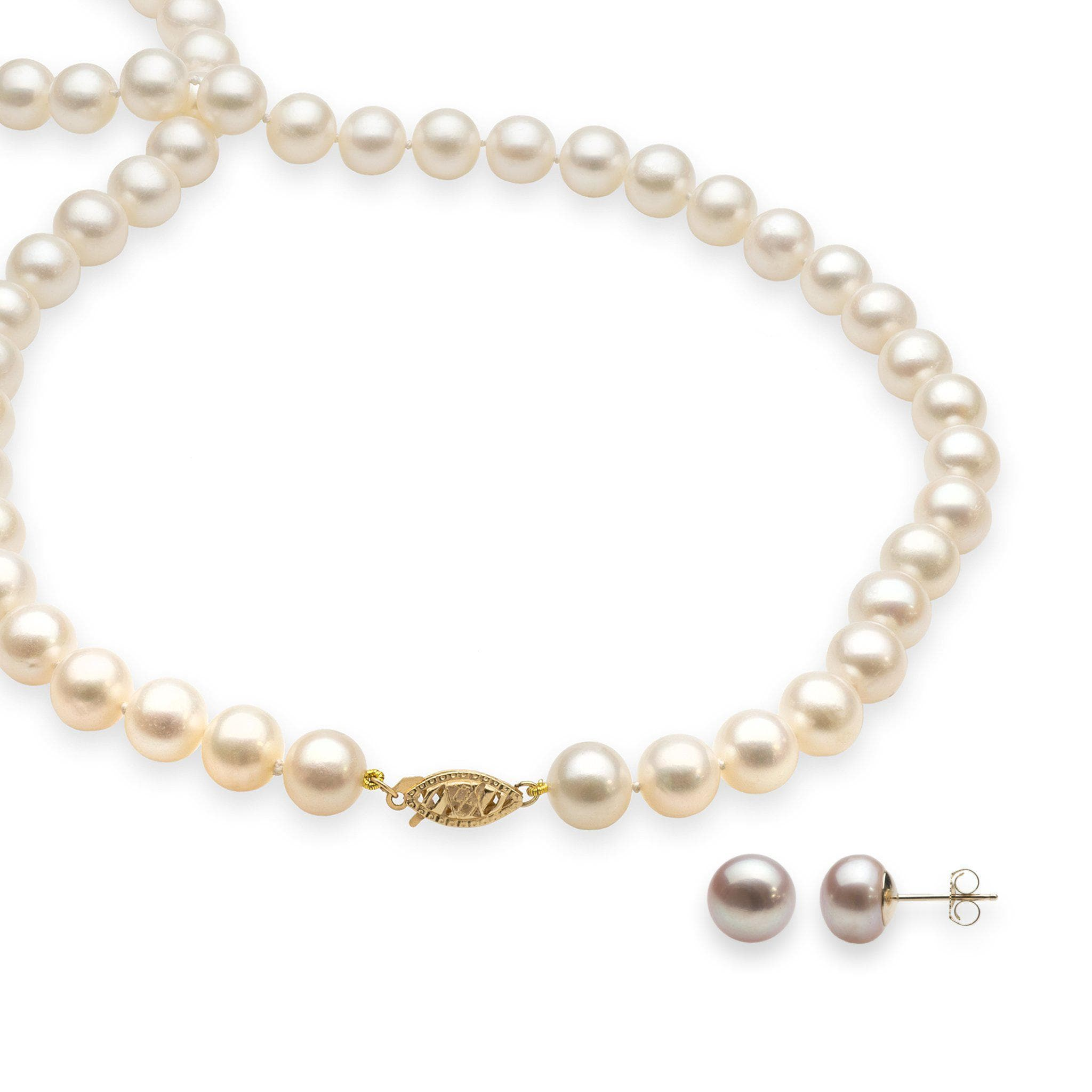 necklace cultured sterling freshwater silver in tuxedo honora pearl pearls