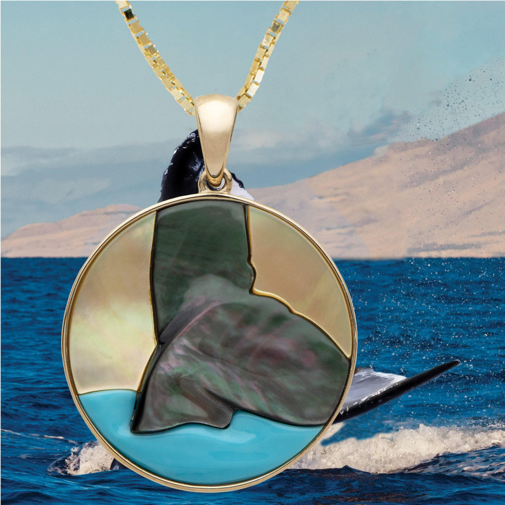 Hawaiian Moments Pendant with Mother of Pearl in 14K Yellow Gold