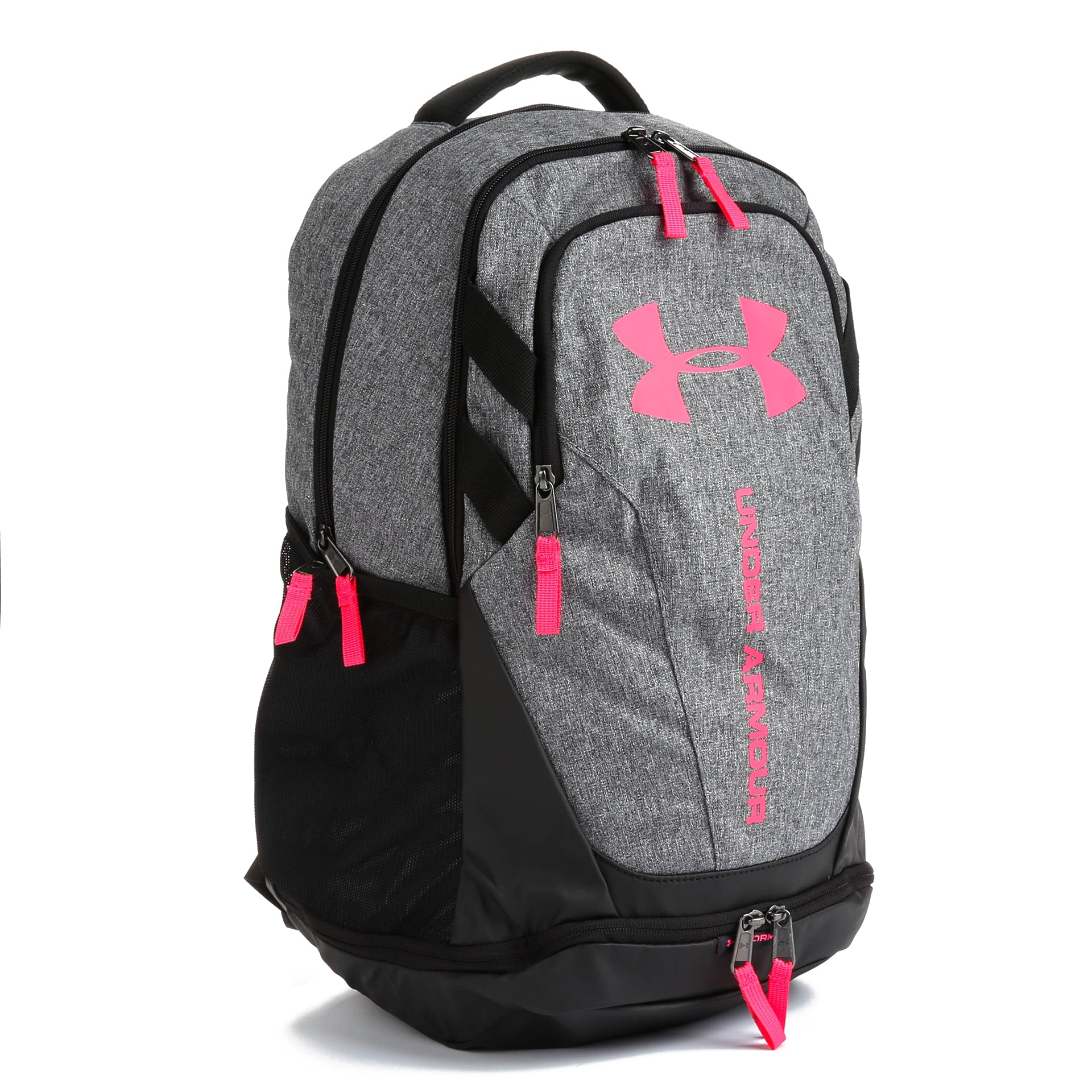 Under Armour Hustle 3.0 Backpack - Heather Grey   Pink - New Star 771b0897f9e9b