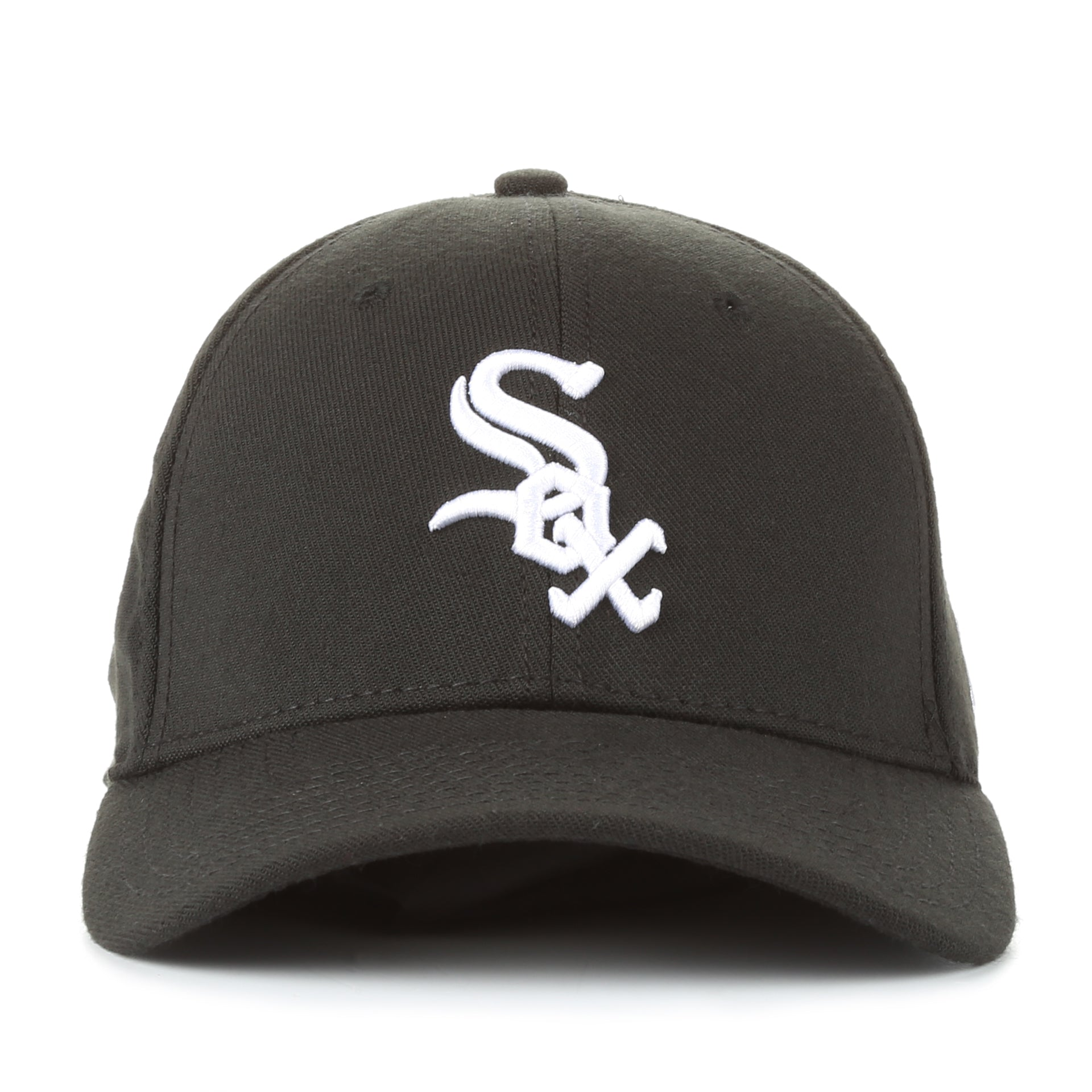 New Era 39Thirty Team Classic Stretch Fit Cap - Chicago White Sox Black 88769f3b332