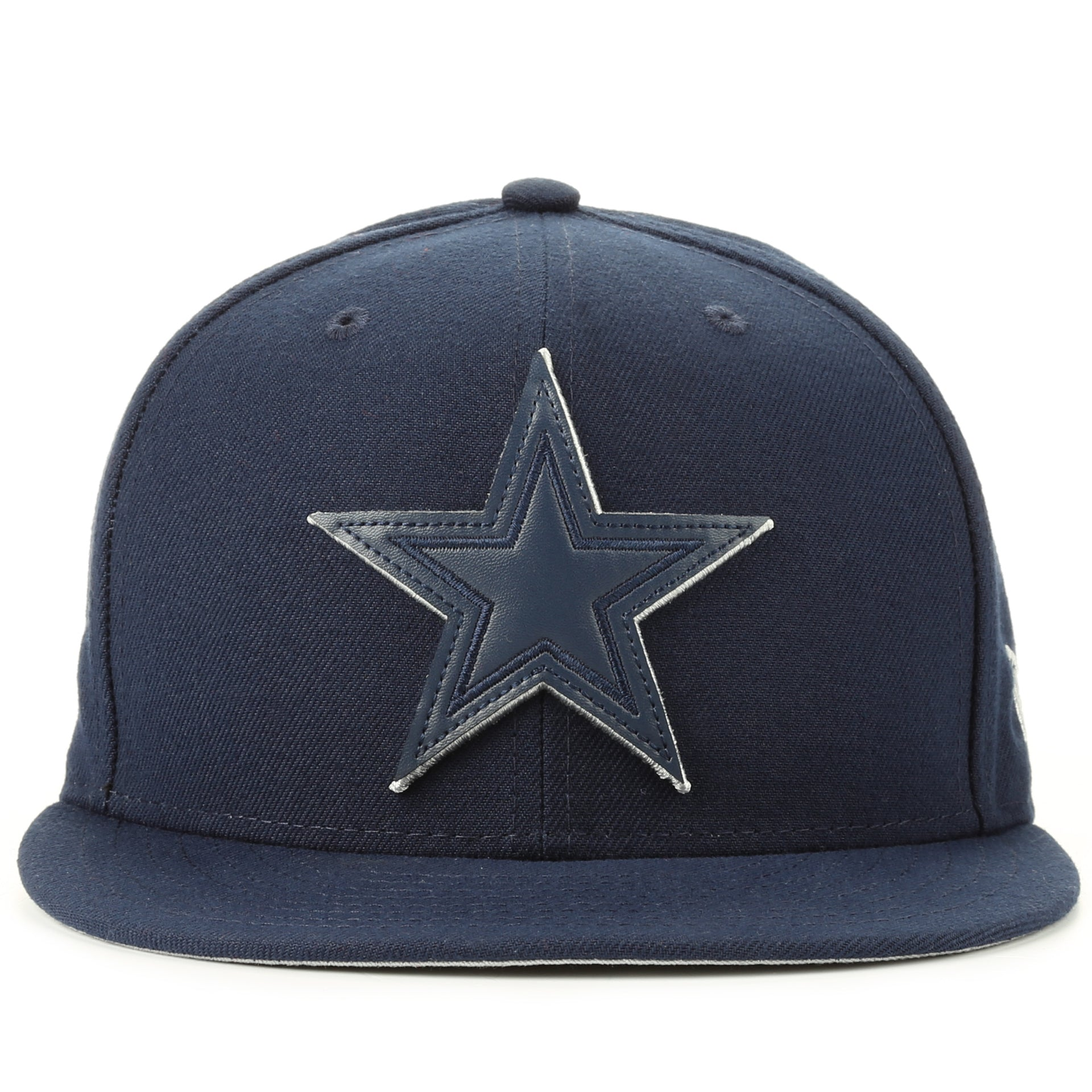 1de1840c9e6 New Era 59Fifty Leather Pop Fitted Cap - Dallas Cowboys Navy - New Star