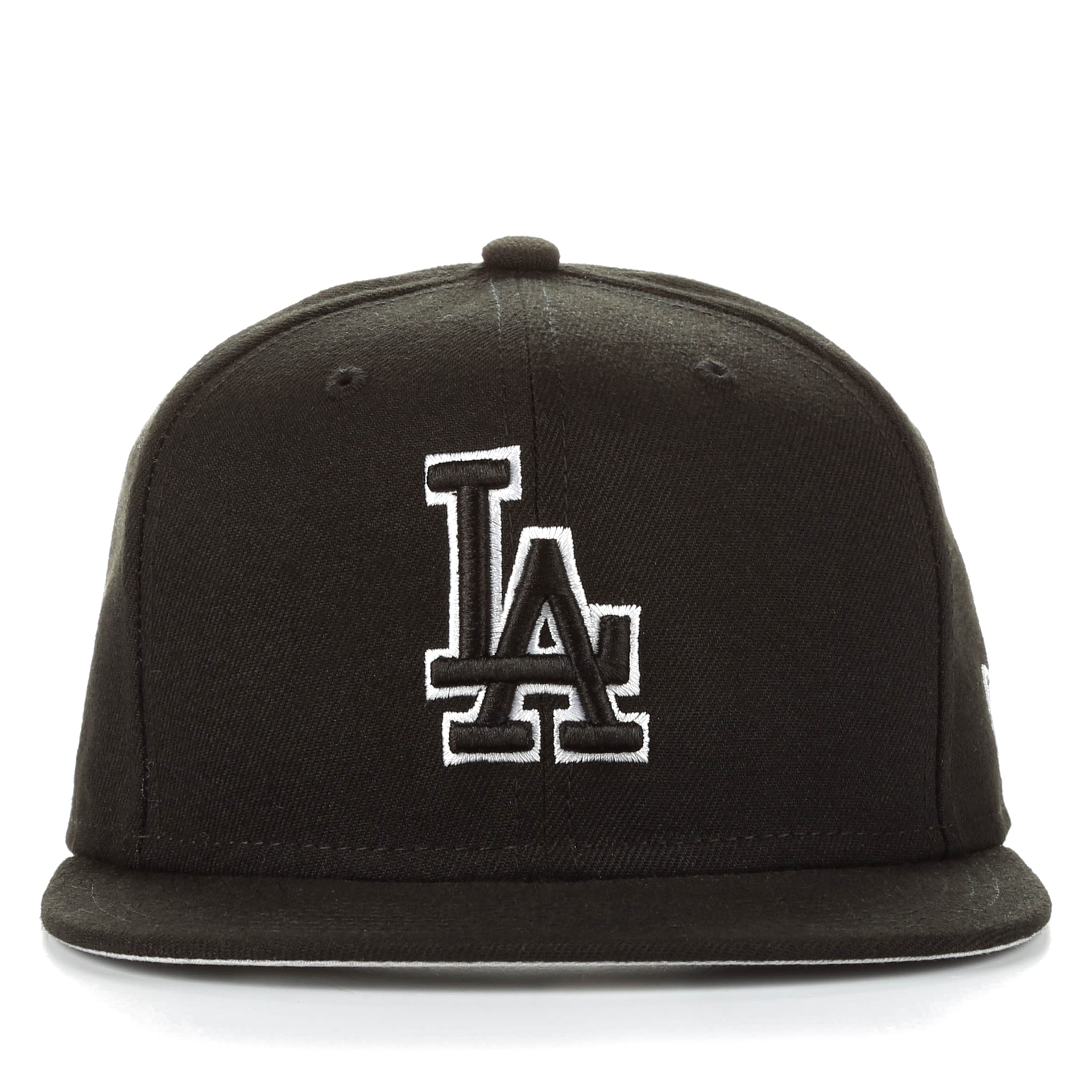 New Era 59Fifty League Basic Fitted Cap - Los Angeles Dodgers Black ... 23e78629c6e