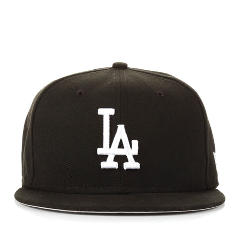 93d0da0c ... shop new era 59fifty mlb basic fitted cap los angeles dodgers black  55b19 80dbe