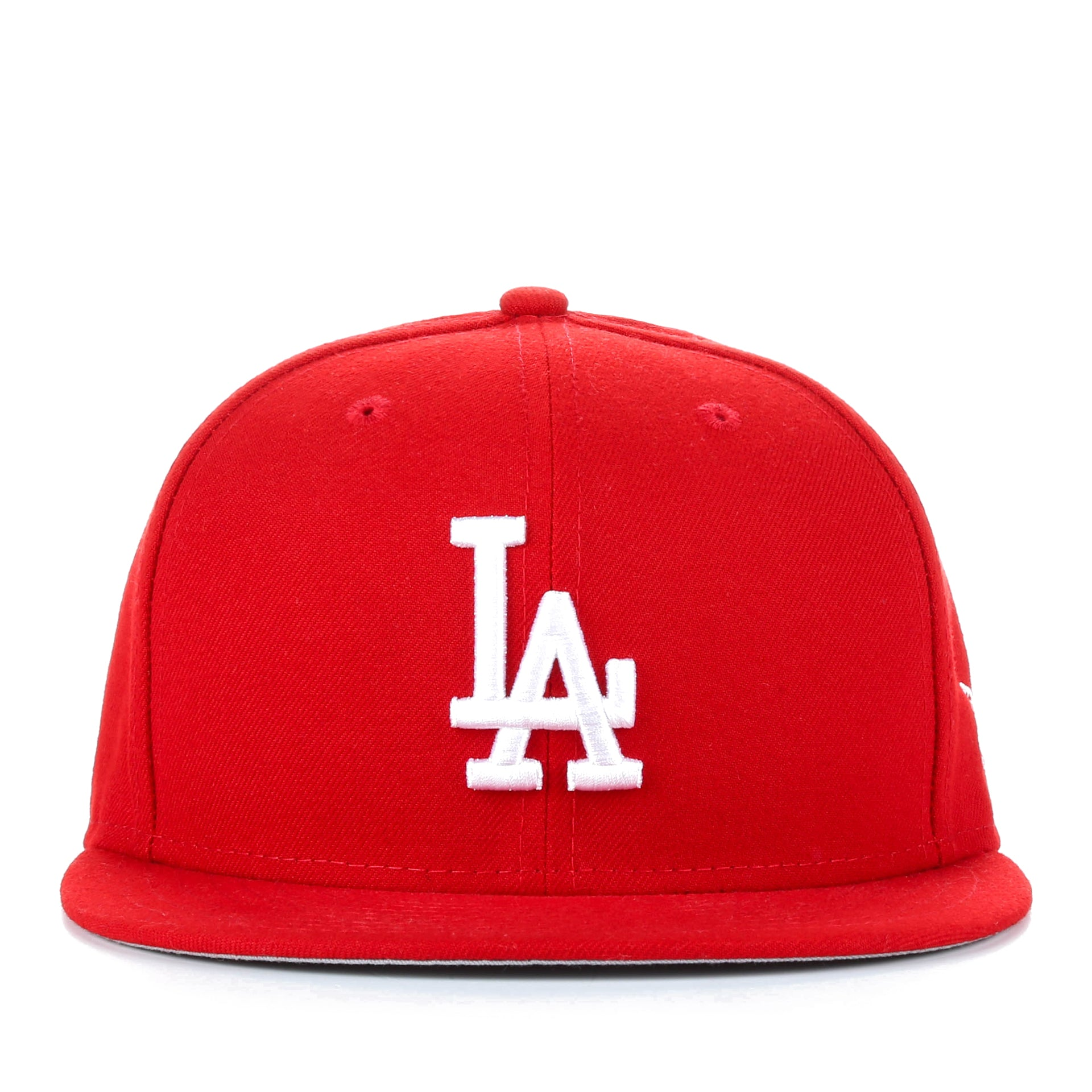 New Era 59Fifty MLB Basic Fitted Cap - Los Angeles Dodgers Red - New ... 07648a77af4