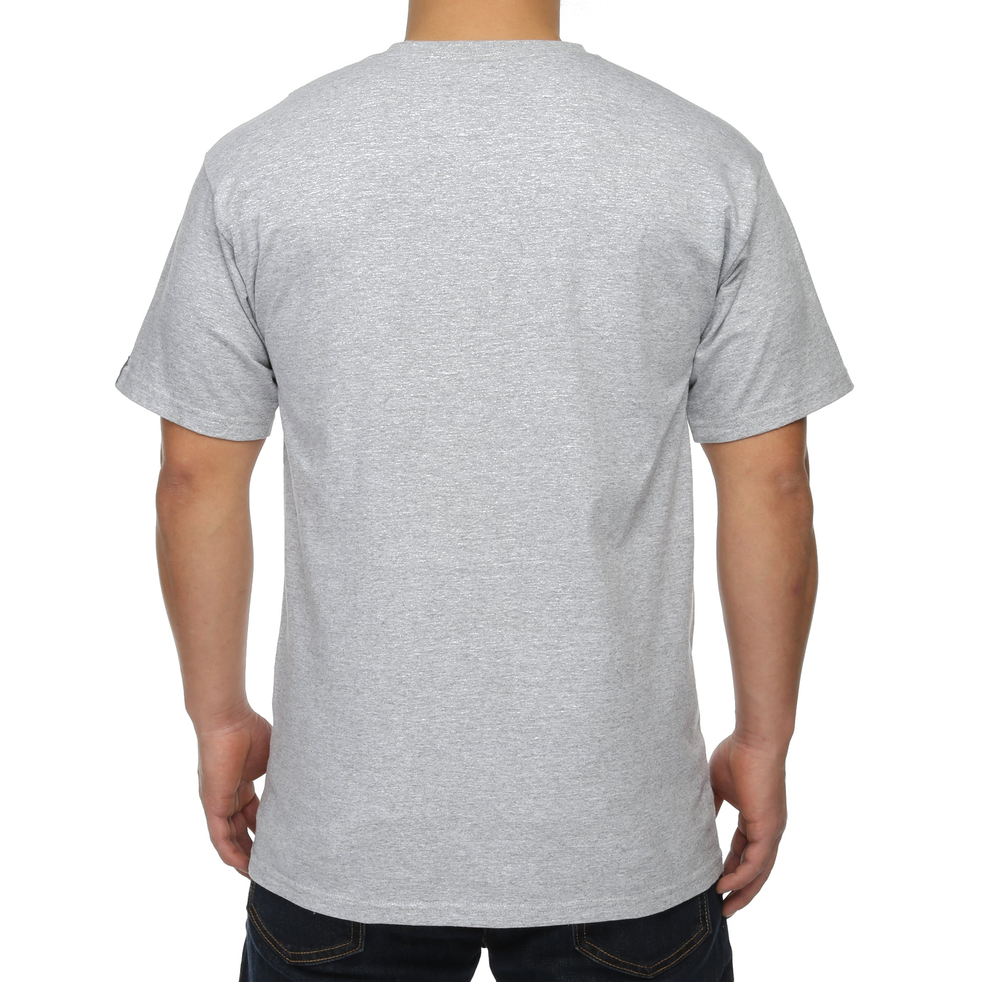fa9a391a01c Undefeated 5 Strike Court Run Tee - Grey Heather