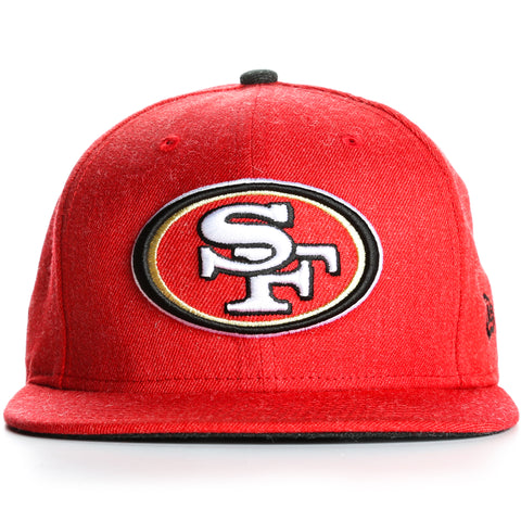 New Era 9Fifty San Francisco 49ers Heather Hype Snapback - Red Heather