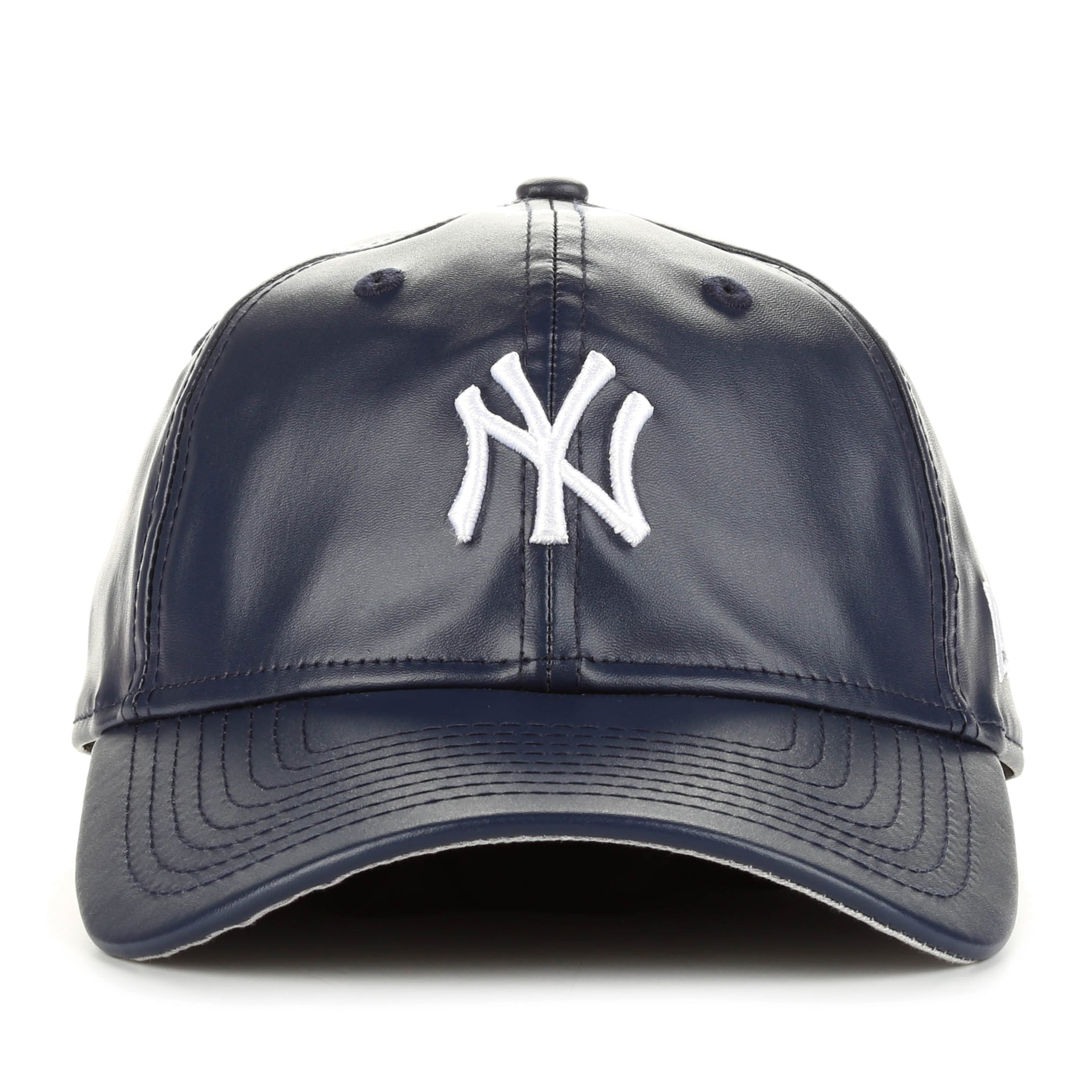 b52114733d40f New Era 9Twenty PU Leather Squad Cap - New York Yankees/Navy