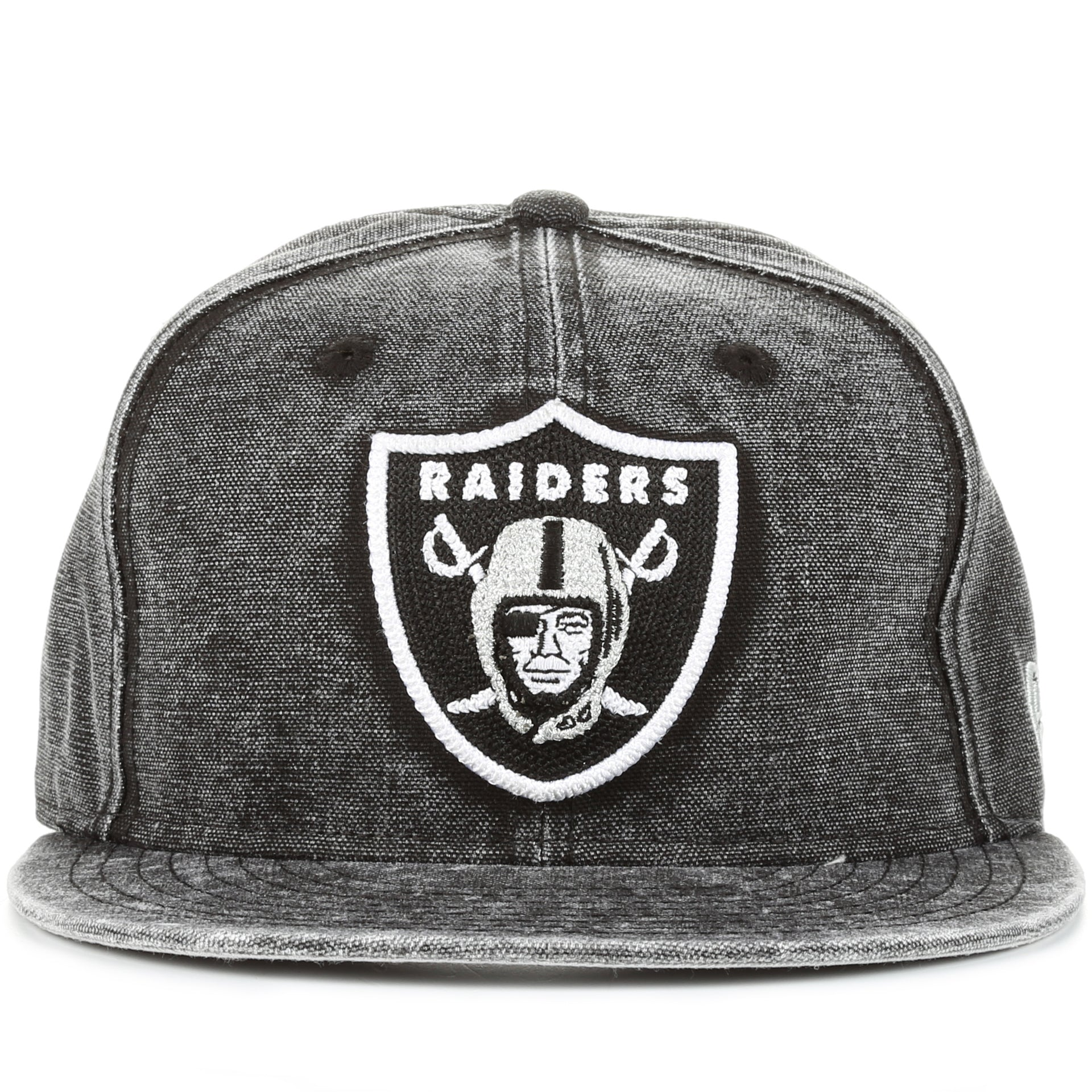 check out c8ee5 fce34 New Era 9Fifty Washed Over Snapback - Oakland Raiders Black Denim