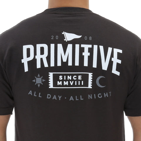 Primitive All Night Tee - Vintage Black