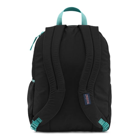 JANSPORT Big Student Overexposed Backpack - Black/Aqua Dash