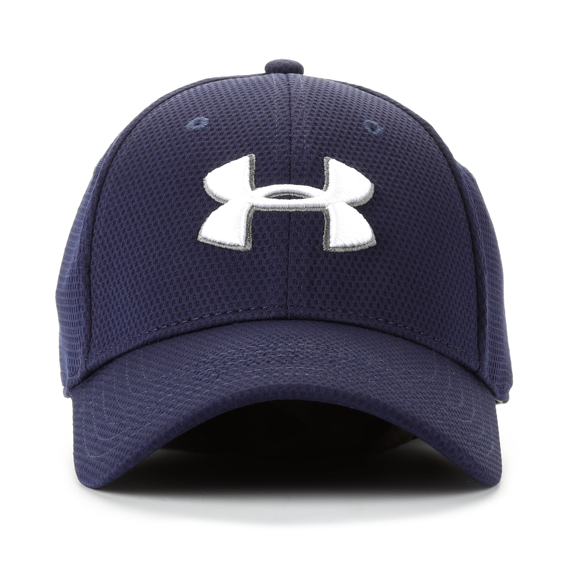 Under Armour Blitzing II Stretch Fit Hat - Navy White - New Star a49dfbe6590