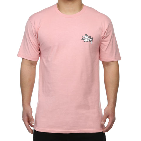 Stussy Checkers Tee - Dusty Rose
