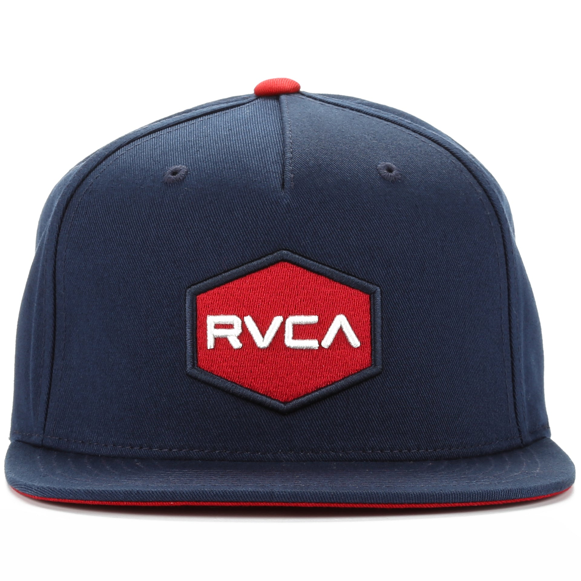 new style 224c2 d5152 RVCA Commonwealth Snapback - Navy Red