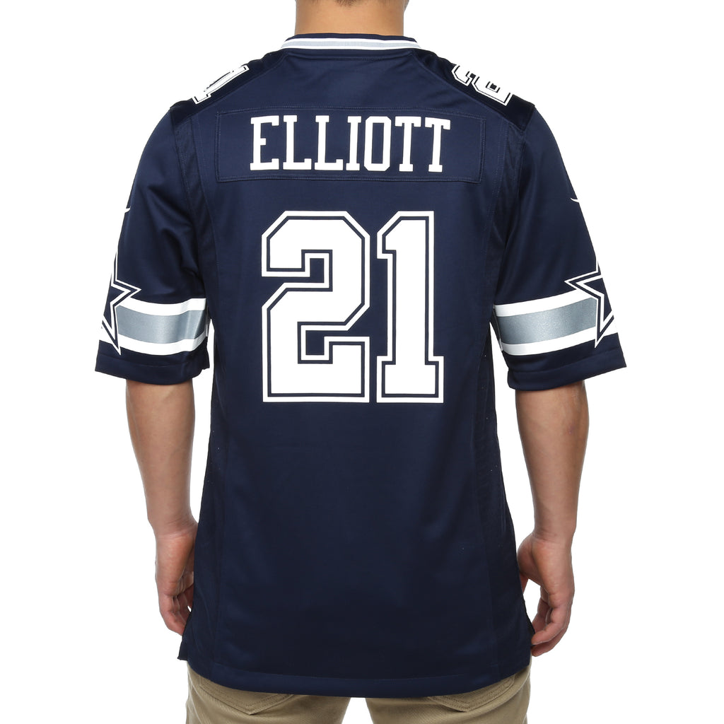 huge selection of 98592 4346a Dallas Cowboys x Nike Ezekiel Elliott #21 Game Replica Jersey - Navy
