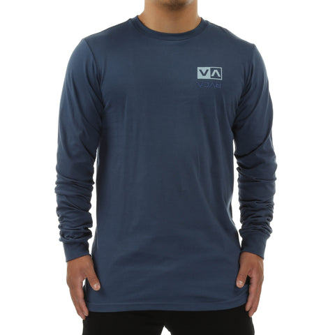 RVCA Flipped Box Embroidery L/S Tee - Dark Denim