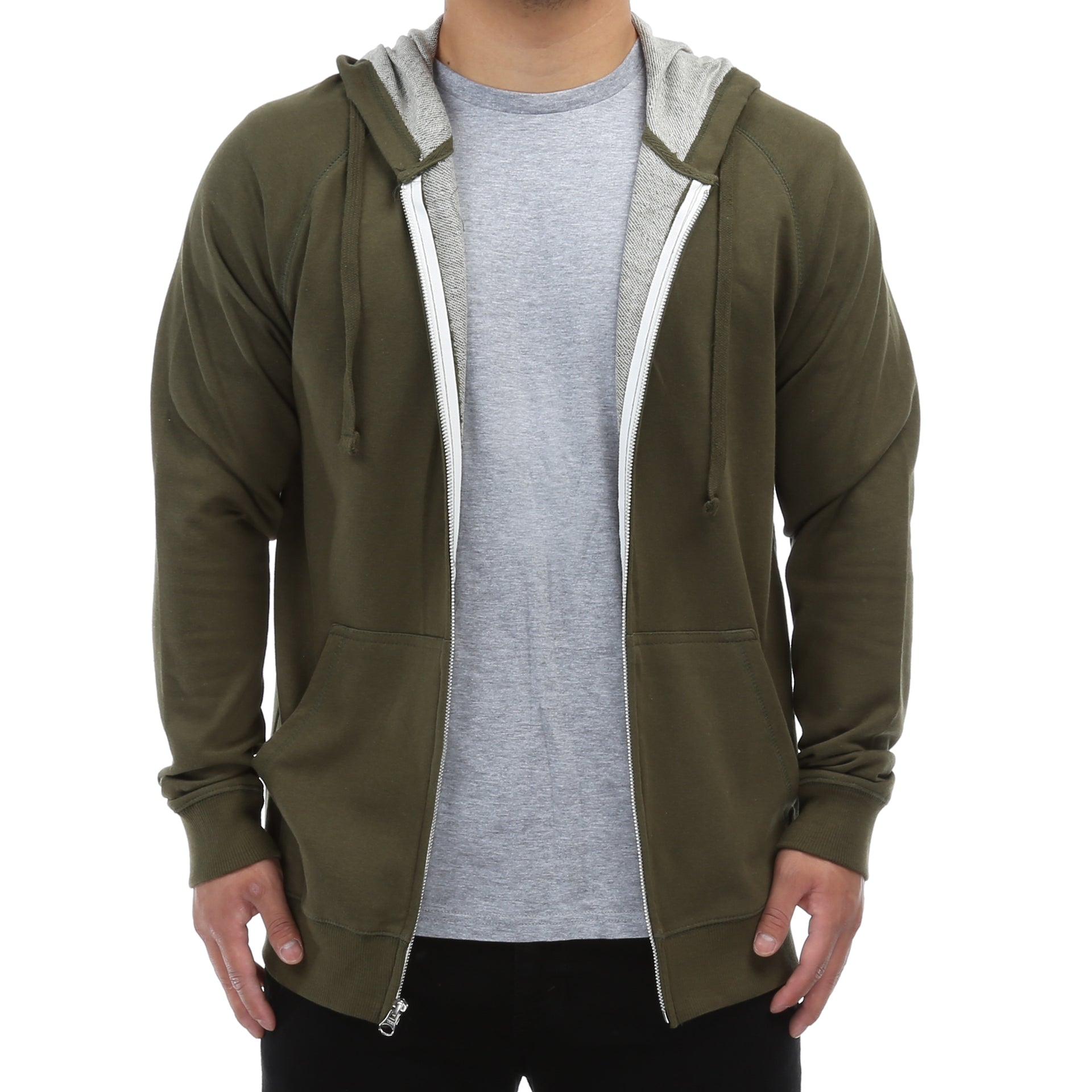 d93da3064 New Star French Terry Zip Up Hoodie - Olive