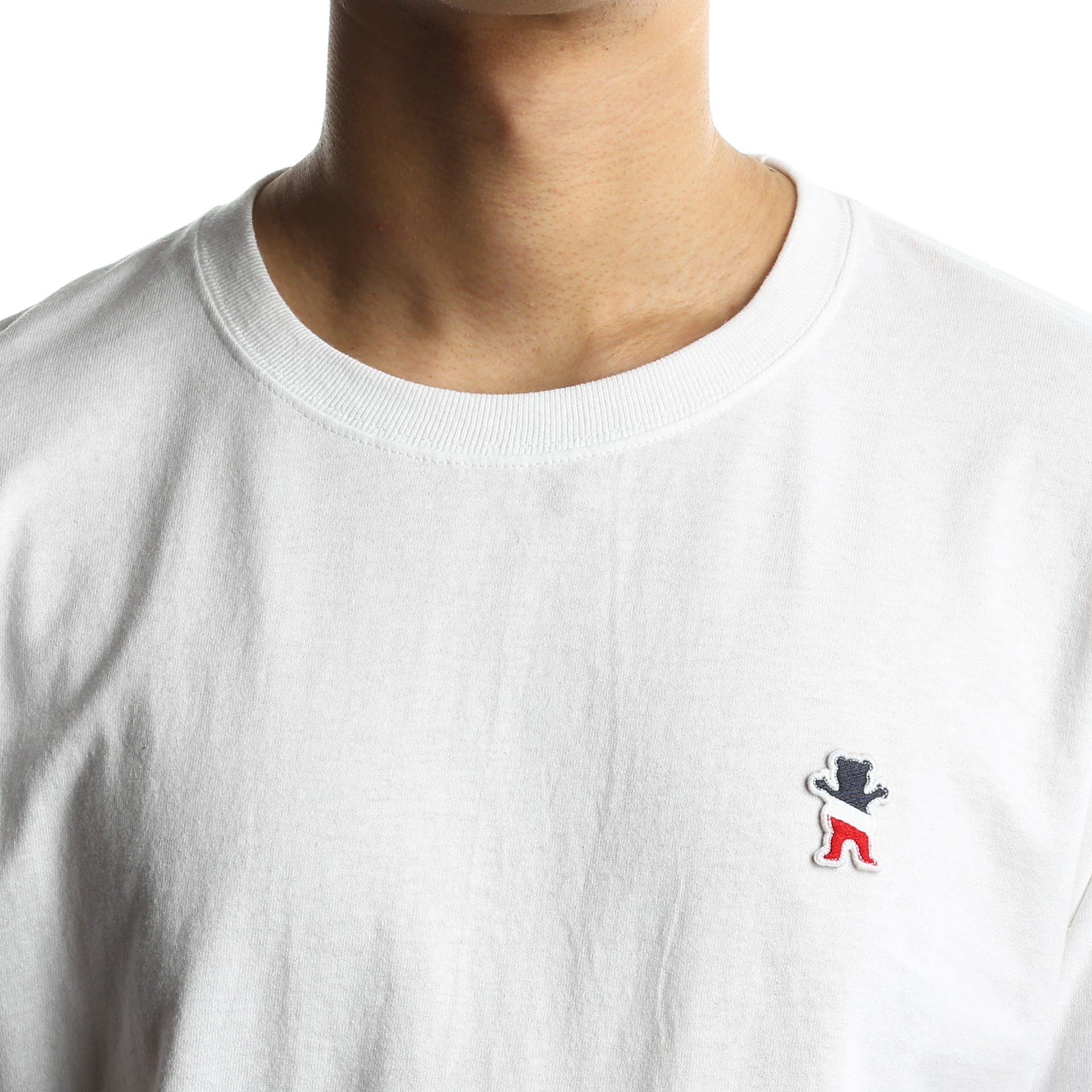 91ade471c841 Grizzly x Champion Behind The Arch Long Sleeve Tee - White