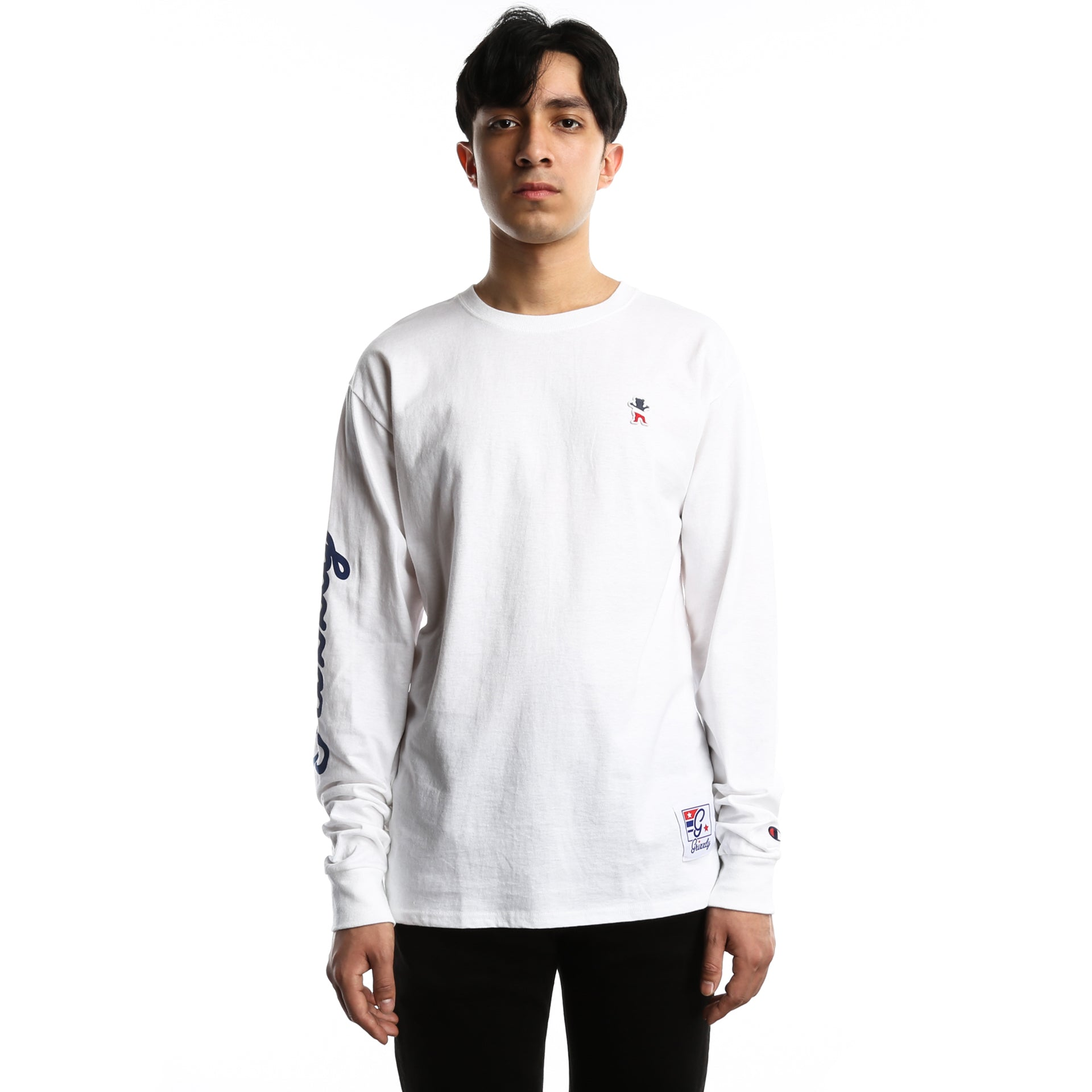 93fdae7037d7 Grizzly x Champion Behind The Arch Long Sleeve Tee - White - New Star