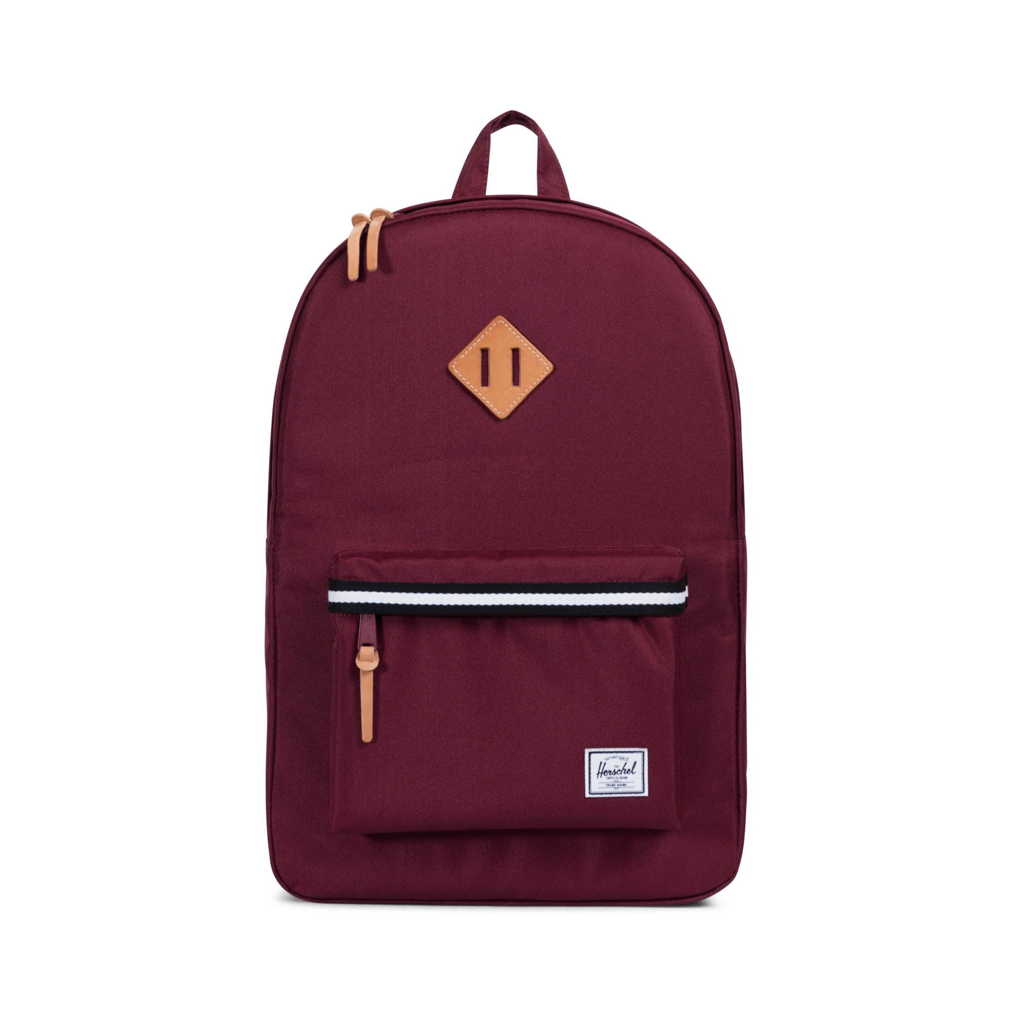 f160b83f84b Herschel Offset Collection Heritage Backpack - Windsor Wine Leather ...