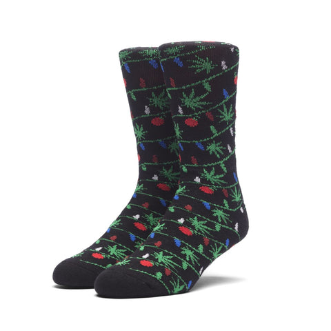 Huf It's Lit Glow In The Dark Socks - Black