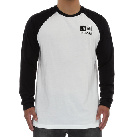 RVCA Kabuki L/S Raglan Tee - Black/Antique