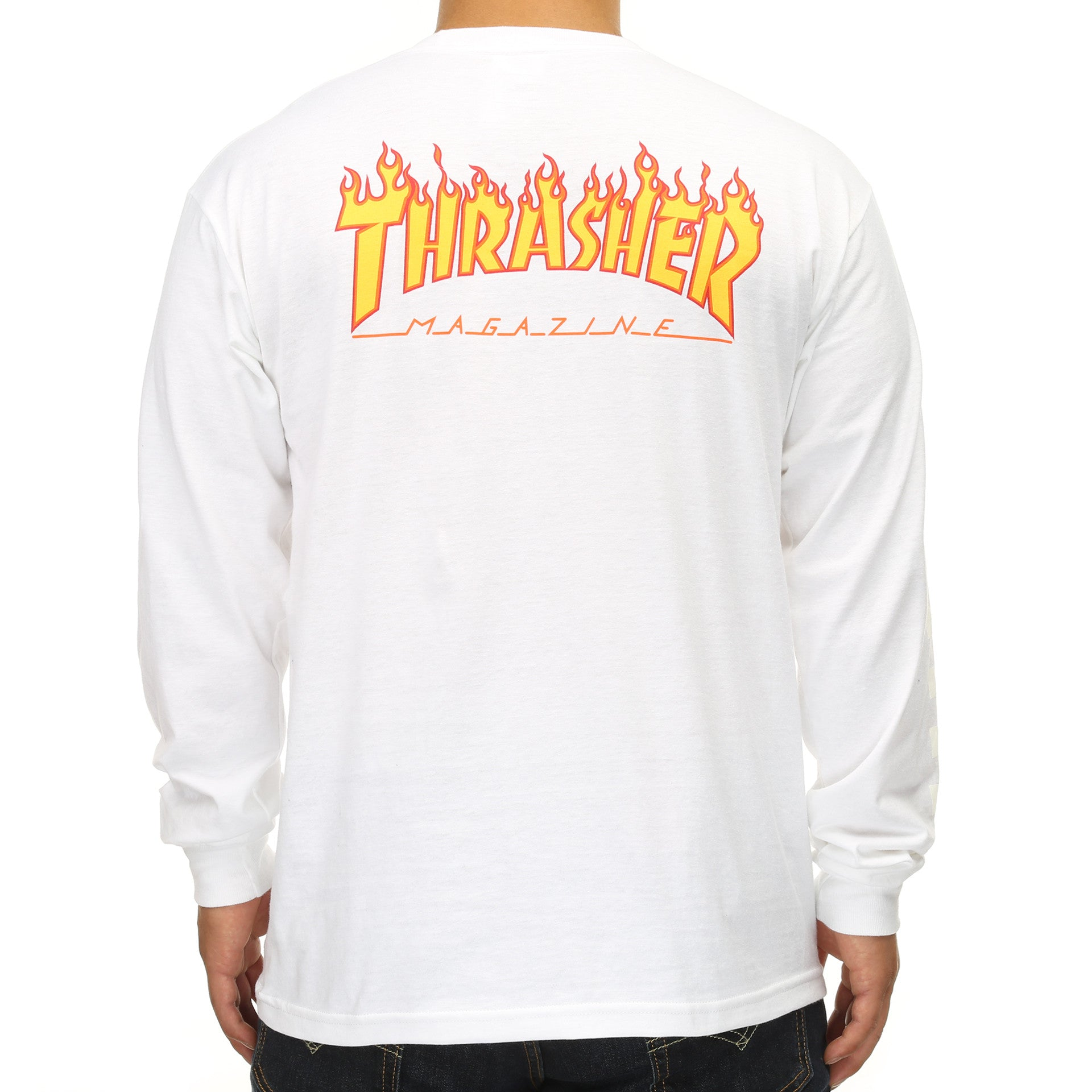 5fa27380f2 Vans x Thrasher Checkerboard L S Shirt - White - New Star