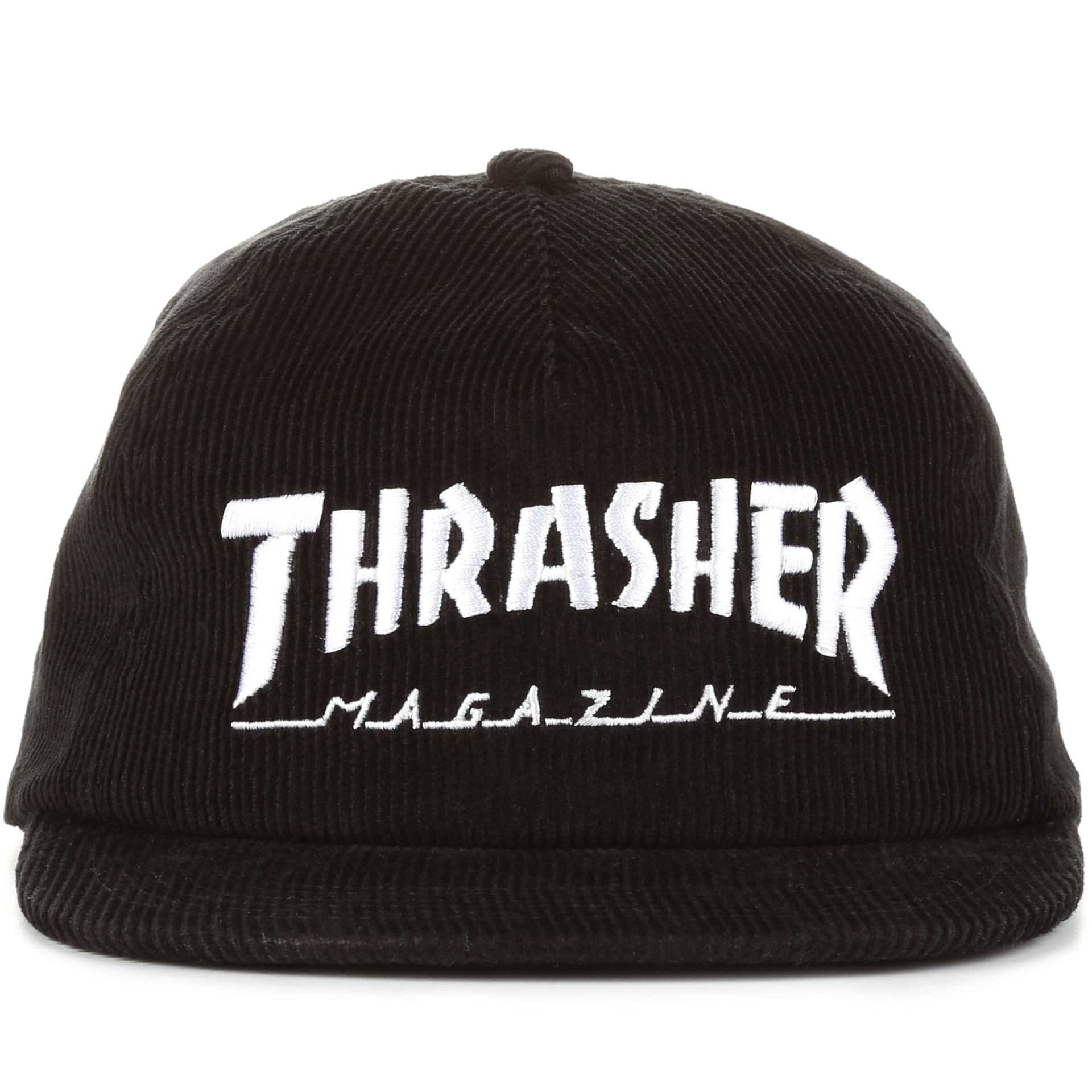 9cd0e935afc Thrasher Magazine Logo Corduroy Snapback - Black - New Star